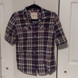 Plaid American Eagle Outfitters Button Down Shirt